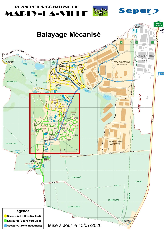 SEPUR Balayeuse plan complet MLV mise a jour le 13-07-2020