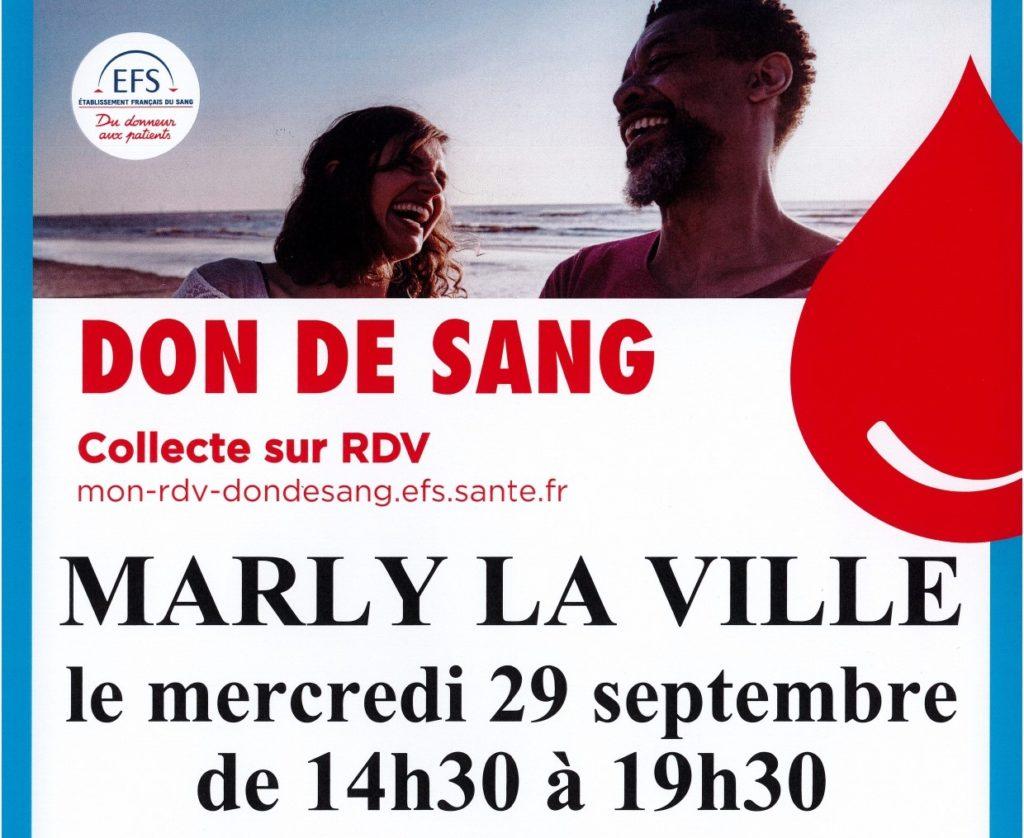 Don du sang 29.09.21 Bannière